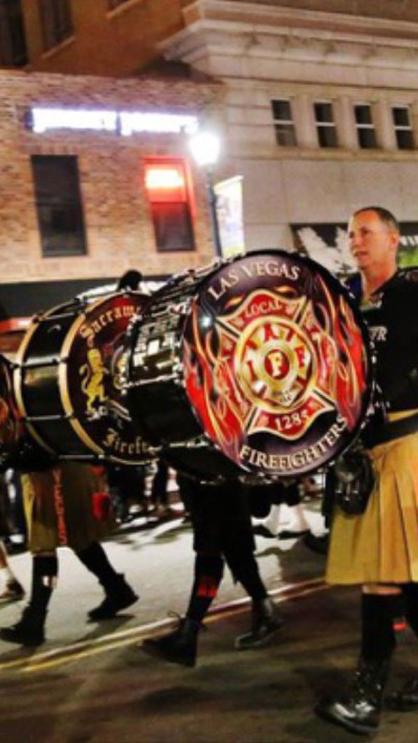 Las Vegas Firefighters Rescue marching band