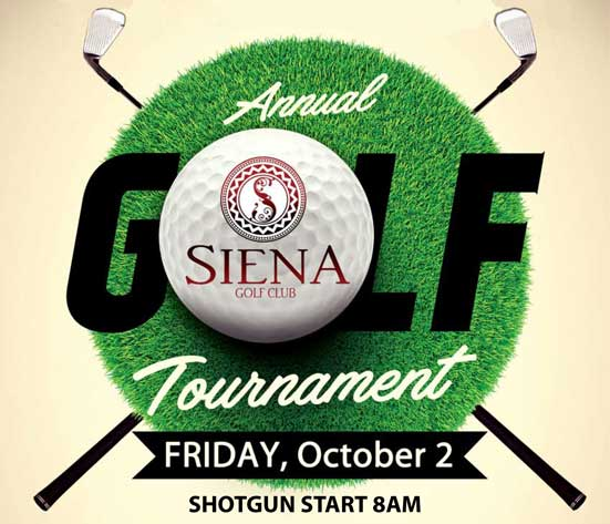 Golf Tournament Flyer Logo for October 2020